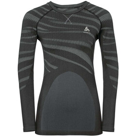 Odlo Suw Performance Blackcomb LS Top Crew Neck Women black-odlo concrete grey